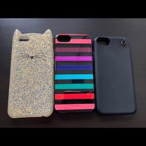 🎀 Kate spade Iphone 6, 7, 8 case bundle 🎀